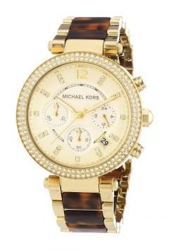 [代購]Michael Kors MK5688 三眼晶鑽錶(Gold and Tortoise)