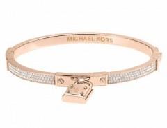 [代購]Michael Kors MKJ3020791 Pavé PadLock Rose Gold-Tone Bracelet 手環