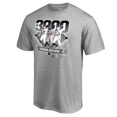 [代購]MLB Ichiro Suzuki Gray 3000 Hits T-Shirt 鈴木一朗3000安官方紀念T恤