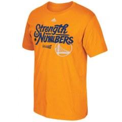 [代購]Mens Golden State Warriors adidas Gold On-Court 2016 NBA Playoffs Team Phrase T-Shirt